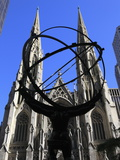 Statue of Atlas  Rockefeller Center  St Patrick&#39;s Cathedral  Manhattan  New York City