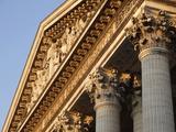 Pediment and Corinthian Columns of the Pantheon  Paris  France  Europe