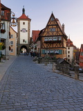 Ploenlein  Siebers Tower  Rothenburg Ob Der Tauber  Franconia  Bavaria  Germany  Europe