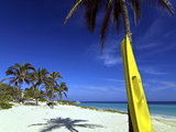 Yellow Canoe at the White Sand Beach of Playa Del Este  Cuba  West Indies  Caribbean