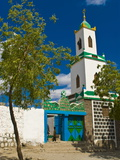 Colourful Mosque in a Little Village in the Republic of Djibouti  Africa