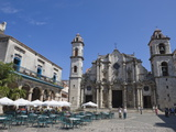 Plaza De La Catedral With Cathedral  Old Havana  Cuba  West Indies  Central America