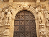 Ornate Doorway in the Santa Veneranda Square  Mazzara Del Vallo  Sicily  Italy  Europe