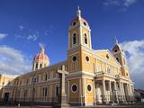 Cathedral De Granada  Park Colon  Park Central  Granada  Nicaragua  Central America