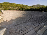 The Ancient Amphitheatre of Epidaurus  UNESCO World Heritage Site  Peloponnese  Greece  Europe