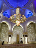 Largest Chandelier in the World Inside Sheikh Zayed Bin Sultan Al Nahyan Mosque  Abu Dhabi