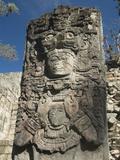 West Court  Stela P  Copan Archaeological Park  Copan  UNESCO World Heritage Site  Honduras