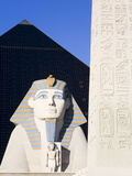 Sphinx and Obelisk Outside the Luxor Casino  Las Vegas  Nevada  USA