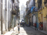 Typical Residential Street in Havana Vieja  Havana  Cuba