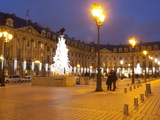 Place Vendome at Christmas Time  Paris  France  Europe
