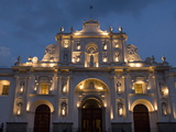 The Cathedral of San Jose With Evening Lights  Antigua  UNESCO World Heritage Site  Guatemala