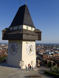 Schlossberg  Clock Tower  Old Town  UNESCO World Heritage Site  Graz  Styria  Austria  Europe
