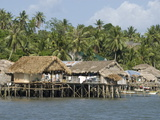 Fishermen&#39;s Stilt Houses  Pilar  Bicol  Southern Luzon  Philippines  Southeast Asia  Asia