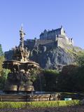 Edinburgh Castle  Edinburgh  Lothian  Scotland  Uk