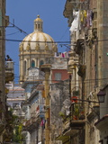 Street View With the Parliament  Havana  Cuba  West Indies  Caribbean  Central America