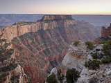 View From Cape Royal at Dusk  North Rim  Grand Canyon National Park  Arizona  USA