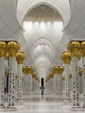 Gilded Columns Lead to the Main Prayer Hall of Sheikh Zayed Bin Sultan Al Nahyan Mosque  Abu Dhabi