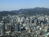 Overview of City  Seoul  South Korea  Asia