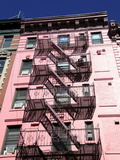 Tenement Building  Fire Escape  Soho  Manhattan  New York City  USA