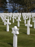 American Cemetery at Omaha Beach  Colleville-Sur-Mer  Normandy  France  Europe