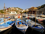 Small Boats in the Harbour of the Island of Hydra  Greek Islands  Greece  Europe