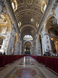 St Peter's Basilica  Vatican City  UNESCO World Heritage Site  Rome  Lazio  Italy  Europe
