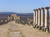 Triumph Arch  Roman Ruins  Volubilis  UNESCO World Heritage Site  Morocco  North Africa  Africa