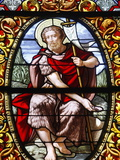 Stained Glass of John the Baptist  Saint-Louis Cathedral  Versailles  France  Europe