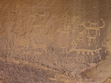 Petroglyphs Near Una Vida  Chaco Culture National Historic Park  New Mexico  USA
