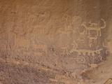 Petroglyphs Near Una Vida  Chaco Culture National Historic Park  New Mexico  USA