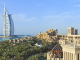 Burj Al Arab  Seen From the Madinat Jumeirah Hotel  Jumeirah Beach  Dubai  Uae
