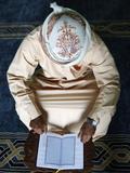 Koran Reading in a Mosque  Dubai  United Arab Emirates  Middle East