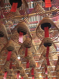 Incense Coils  Man Mo Temple  Hong Kong  China  Asia