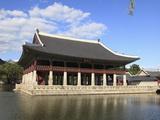 Gyeonghoeru Pavilion  Gyeongbokgung Palace (Palace of Shining Happiness)  Seoul  South Korea  Asia