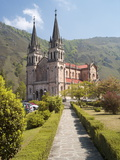 The Church at Covadonga  Asturias  Spain  Europe