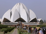 Baha'I House of Worship  Lotus Temple  Delhi  India  Asia