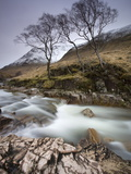 River Etive Flowing Through a Narrow Granite Gorge  Glen Etive  Highland  Scotland  United Kingdom