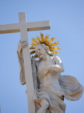 Christ and the Cross  Resurrection  Melk Abbey  Melk  Lower Austria  Austria  Europe