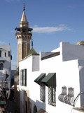 Minaret of the Hammouda Pasha Mosque (Hamouda Pacha Al Mouradi)  Medina  Tunis  Tunisia