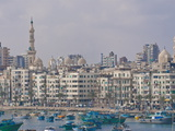 The Skyline and Habour of Alexandria  Egypt  North Africa  Africa