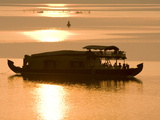 Houseboat at Dusk in Ashtamudi Lake  Kollam  Kerala  India  Asia