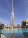 Burj Khalifa and Dubai Mall  Downtown  Dubai  United Arab Emirates  Middle East