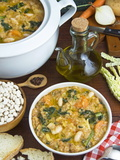 Ribollita Soup  Made with Beans  Cabbage  Carrot  Onion  Bread  Potato and Olive Oil  Florence