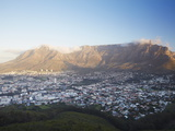View of Table Mountain and City Bowl  Cape Town  Western Cape  South Africa  Africa