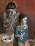 Mutter mit Kind (Gaukler), c.1905 Reproduction pour collectionneurs par Pablo Picasso