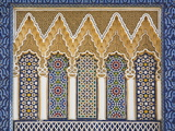 Ornate Detail With Coloured Tiles, Royal Palace, Fez-El-Jedid, Fez (Fes), Morocco, North Africa Reproduction d'art