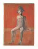 Sitzender Harlekin, c.1905 Reproduction pour collectionneurs par Pablo Picasso