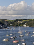 Fowey Harbour and Estuary  Cornwall  England  Uk