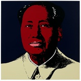 Mao Tse-Tung Kopf Rot-Gelb