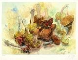 Stilleben mit Pilzen